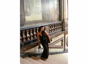 Krissy on Versailles stairway