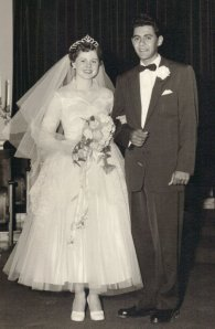 Mom and Dad Wedding 1954