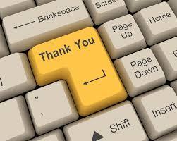 Thank you keyboard key