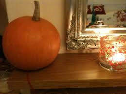 candle and pumpkin 1