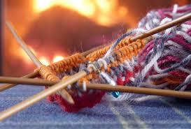 knitting by fire 1