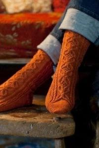 Orange socks