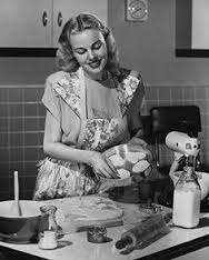 woman in kitchen 1950