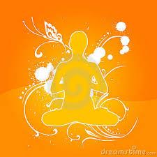 Yoga pose orange