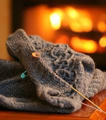 knitting by fire