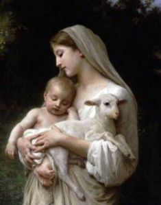 Christ Mother Mary and Lamb