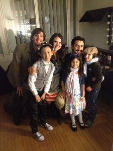"Dominic Bridge (nephew), Veronica, Charles Castronovo, Logan, Bette Lou, and ""Sasha."""