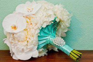 Blue tiffany bridal bouquest