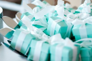 Blue tiffany bridal favors