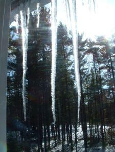 window snow icycle