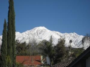 Cucamonga Peak Snowy